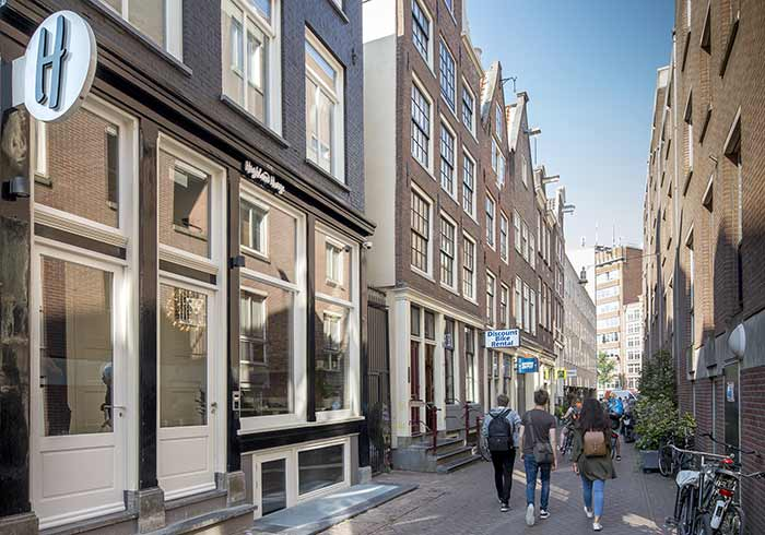 The Story of The  Highland House Amsterdam - Front of the building under construction