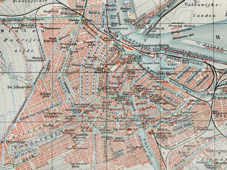 old map amsterdam